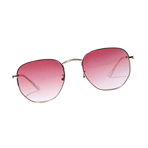 Rayons De Transparentes Sharplace Homme Protection Rétro UV400 UVB Femme Rouge Colorées Lunettes Métalliques Soleil Verres zqH1w57H