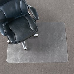 Realspace(R) Economy Chair Mat For Thin Commercial-Grade Carpets, Rectangular, 46in.W x 60in.D, Clear by Realspace