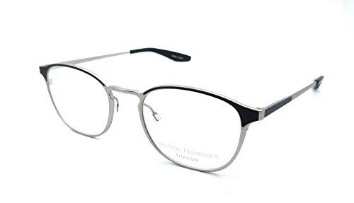 Barton Perreira RX Eyeglasses Frames Zalon 50x20 Brushed Silver / Black - Perreira Titanium Barton
