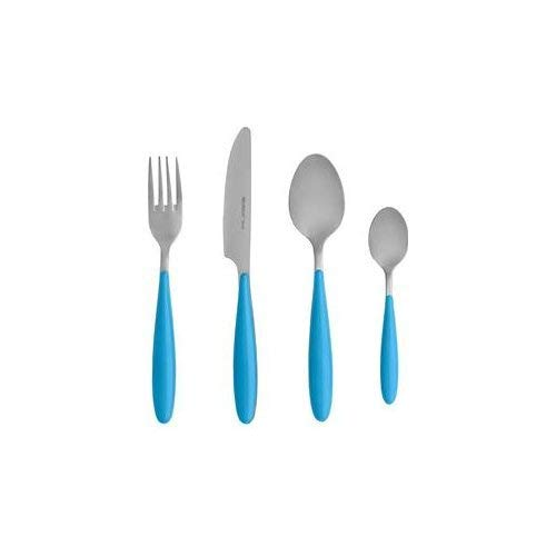 Brandani 82147 Ginger 4 Pieces Stainless Steel Table Setting Turquoise