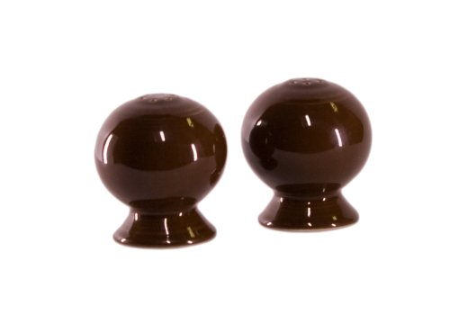 Fiesta 2-1/4-Inch Salt and Pepper Set, Chocolate - Homer Laughlin Fiesta Chocolate