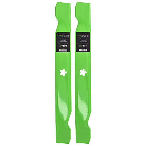 8TEN LawnRAZOR Hi-Lift Blade 38 Inch Deck for AYP Husqvarna LT LTH 1238 127842 138497 531307221 532127842 2 Pack