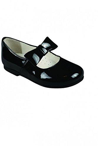 Chaussures Noires Bride Fille Noeud Vernis Cuir Bébé Dymastyle Yymvf7bgI6