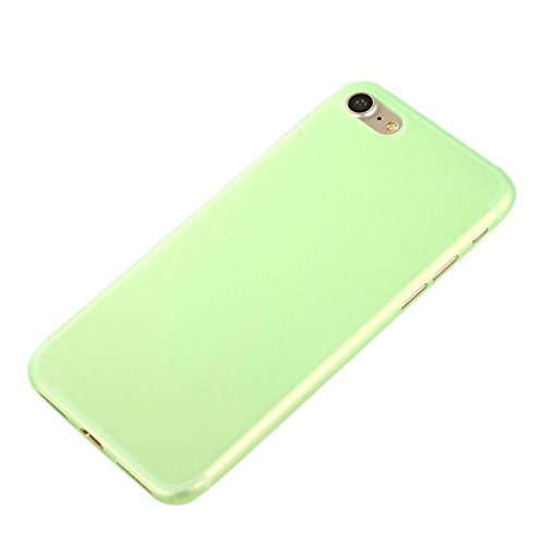 "Price comparison product image iPhone 7 Case, Tenworld Slim Shock Absorption Colorful PC Bumper Case Cover For iPhone 7 Plus 5.5 inch / iPhone 7 4.7 inch Back Cover Skin (For iPhone 7 4.7"", Green)"