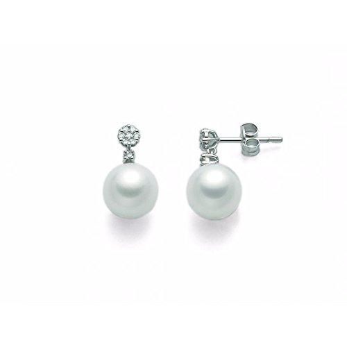 Boucles d'oreilles MILUNA la perle Reine per2130or blanc diamant