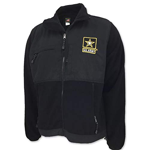 United States Army Star Fleece Jacket, medium, black ()