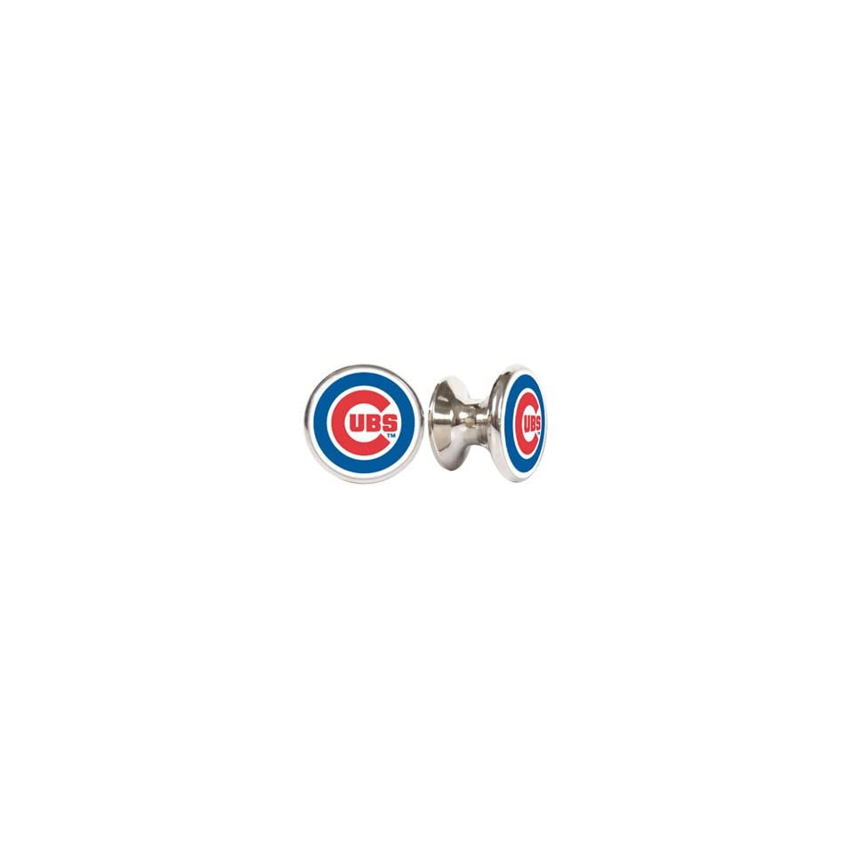 Chicago Cubs MLB Stainless Steel Cabinet Knobs / Drawer Pulls (2 pack)