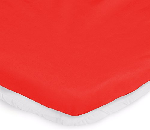 """aBaby Bassinet Mattress Protector and Sheet Combo, Red, 15"""" x 30"""""""