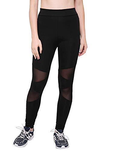e98b4325d212b AREO Women s Power Flex Tummy Control Workout Yoga Leggings (Black ...