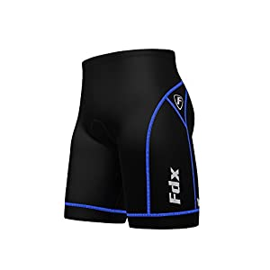 FDX Mens Quality Cycling Shorts Anti Bac Padding Outdoor Cycle Gear Tight Shorts
