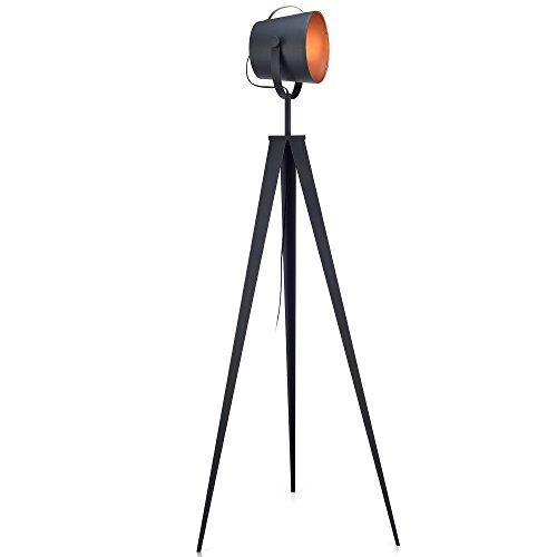 Teamson Design VN-L00021 Versanora - Artiste 62.2' Metal Rero Tripod Studio Floor Lamp with 3 Adjustable Legs