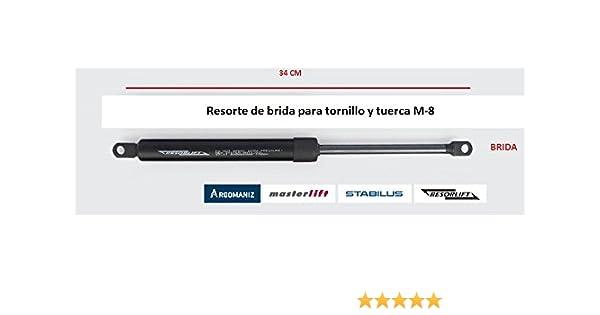 Cuens Descanso Juego de 2 amortiguadores o Resortes de Gas para canapes (1600 Newton) Brida M-8. para canapés de 180cm: Amazon.es: Hogar