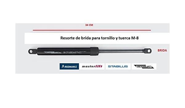 Cuens Descanso Juego de 2 amortiguadores o Resortes de Gas para canapes (1000 Newton) Brida M-8, para canapés de 120cm: Amazon.es: Hogar
