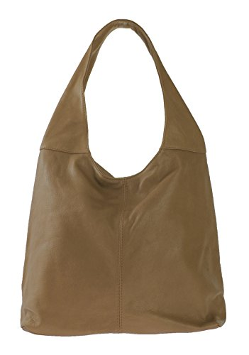 Sac en MY à main BAG cuir souple bandoulière femme Taupe OH 0EwqgH