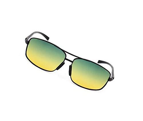 Conduite voyager de de UV400 Nuit Mode Vélo Huyizhi Cool Vert Yellow Utilisation Hommes Femmes Lentilles Jaune Lunettes Polarisées Plein de Protection Air Jour Lunettes Axw7aBHw