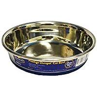 Durapet Premium SS Cat Bowl 200mL, Silver/Blue