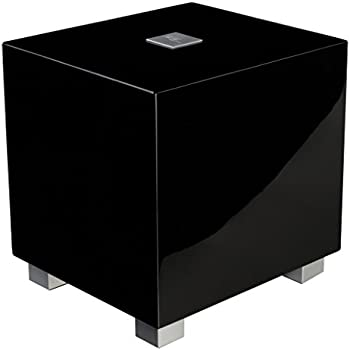 REL Acoustics T/Zero Subwoofer, 6.5 inch Down-Firing Driver, High Gloss Black