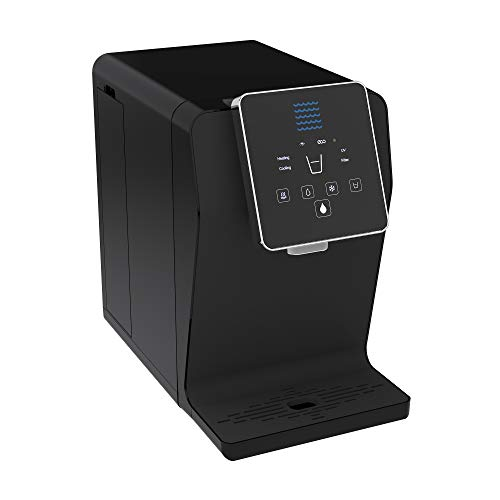(Bottleless Countertop Water Dispenser Gen2. Triple Temp Settings - Ambient Hot and Cold Water Dispenser, Touch Control Dispense, UltraVi Technology +Multi-Stage Bottleless Water Cooler Filtration System- UL / Energy Star Approved. Gloss Black)