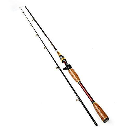 WAVENI Cañas de Pescar Suministros de Pesca Varillas de Acero al Carbono Adecuadas para estanques de ribera (Size : 210cm)