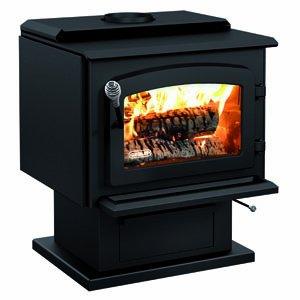 Model Black Pedestal - Drolet Wood Stove On Pedestal Model Escape 1800 - Black Door DB03102