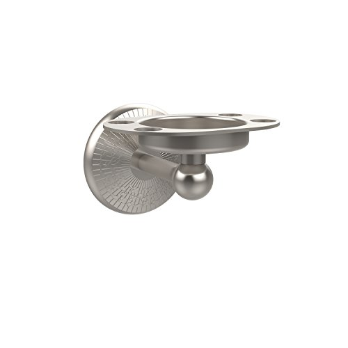 Allied Brass MC-26-SN Monte Carlo Collection Tumbler/Toothbrush Holder, Satin Nickel (Monte Carlo Tumbler)