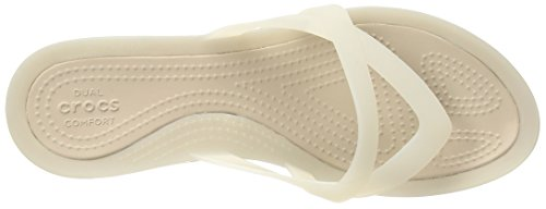 Crocs Mujeres Wedge Isabella Flip Oyster / Adoquines