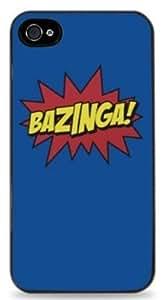 Bazinga Big Bang Theory - Black Hard Case for iPhone 5 / 5S - 412