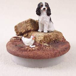 Conversation Concepts Miniature Cavalier King Charles Spaniel Black & White Candle Topper Tiny One