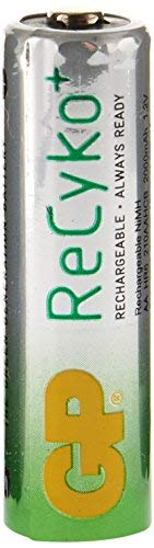 GP Recyko AA NiMH Pre-Charged Rechargable 1.2v 2100mAh 2 Batteries + 2 Free Total of 4 Batteries