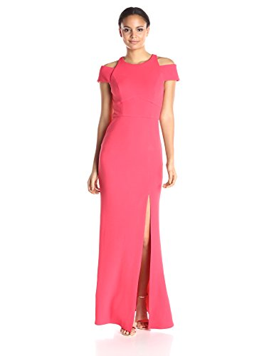 ABS Allen Schwartz Women's Off- Off-Shoulder Crew-Neck Gown, Coral, Medium