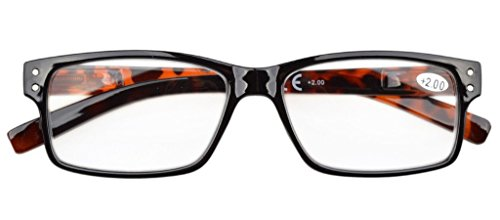 Eyekepper Mens Vintage Reading Glasses-5 Pack,+1.50