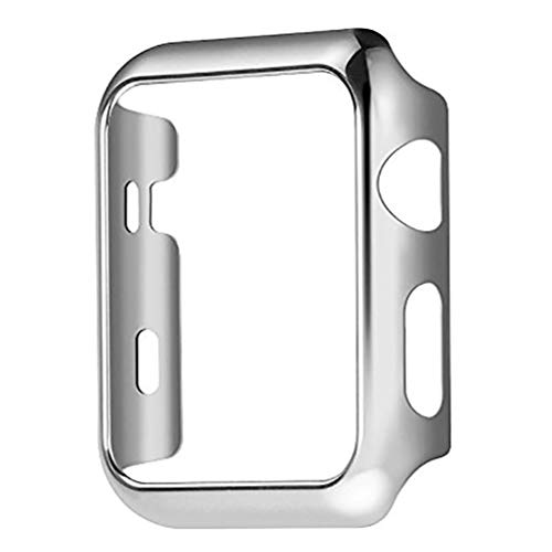 Series 4 44mm Case for Apple Watch Screen Protector, iWatch Premium Plating Protective Ultra-Thin PC Plated Bumper Anti-Scratch Full Cover for Apple Watch Series 4 44mm (Silver)