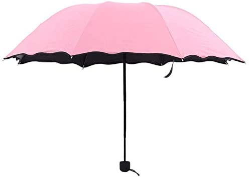 ZGMMM Paraguas Lluvia para Mujer Plegable Paraguas Femenino Mango ...