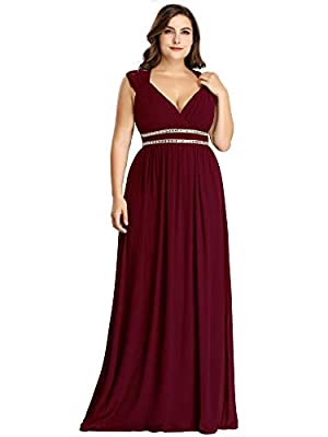 Ever-Pretty Women's Plus Size V-Neck Empire Waist Evening Party Maxi Dress 8697PZ