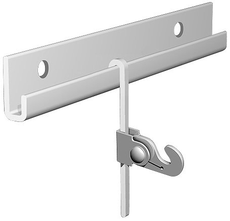 """Arti Gallery French Rod Gallery Picture Hanging System 13 FT Silver Rail Kit (Complete Art Hanging System Includes: 2 of 6 1/2 FEET Silver Picture Rails, 4 of Sliver 6 1/2"""" FEET S-BENT Picture Rods, 12 Of 45 Pounds Picture Hooks, All installation Hardware, Installation Guide, Free Hanging & Picture Framing Hardware Sample Pack)"""