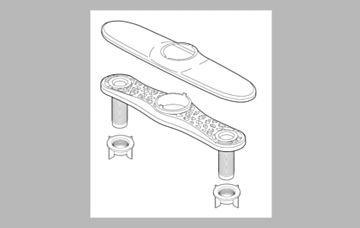 Delta RP70714 Escutcheon Plate and Mounting Nuts,