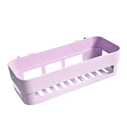 Tronet Suction Cup Shower Caddy Bath Shelf Storage Combo Organizer Basket for Shampoo, Conditioner, Soap, Razor Bathroom Accessories - Newest (Purple) (Corner Combo Basket)