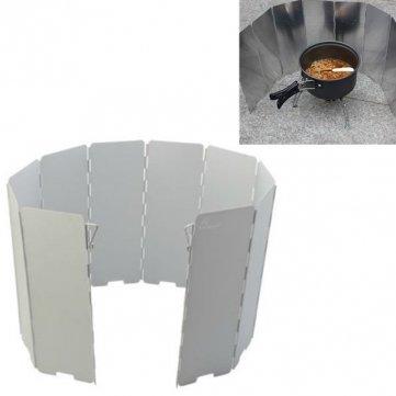 Man Friday Calidad camping plegable de aluminio de alta Placas de barbacoa Estufa Escudo del viento MF