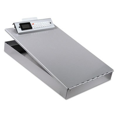 Saunders Redi Rite Form Holder - Saunders(R) Redi Rite(TM) Form Holder with Calculator, 8 1/2in. x 12in, 89% Recycled, Silver