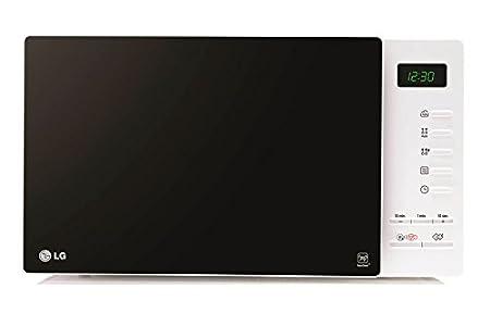LG MH6354JAS - Horno microondas con grill, color: negro y blanco ...