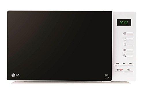 LG MH6354JAS - Horno microondas con grill, color: negro y blanco (potencia: 800 W, capacidad: 23 litros)