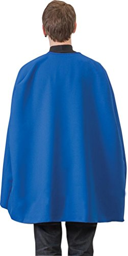 [Blue Superhero Cape, One Size Fits All] (The Blue Man Group Costume)