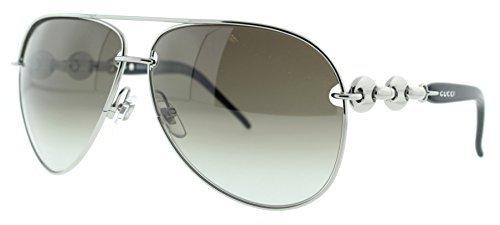 Gucci GG 4225/S Silver Women's Aviator Sunglasses