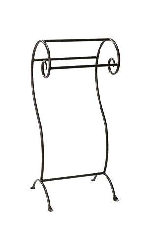 Waterbury Towel (Stone County Ironworks Waterbury Towel Stand, Hand Rubbed Bronze 205703-OG-143039-O-761527, Hand Rubbed Bronze 205703-OG-143039-O-761527 O)