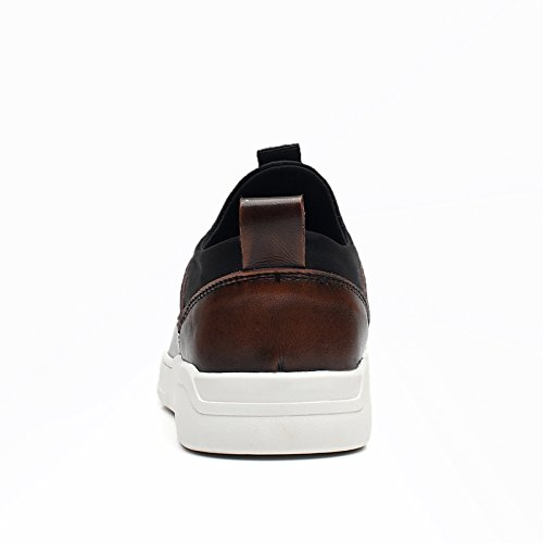 Comfy New 8837 QYY Shoes Mens 41 Cozy Charming Leather Walking EU Leisure Brown Warm xqHw05rwd