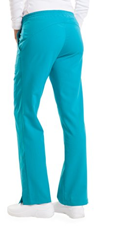 Purple Label Women's Taylor 9095 2 Pocket Drawstring Scrub Pant by Healing Hands Scrubs- Teal- ST