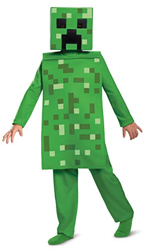 Creeper Costume For Halloween (Disguise Minecraft Creeper Boys' Jumpsuit)