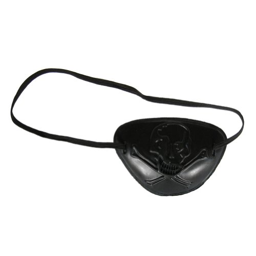 See Through Skull Pirate Eye Patch ~ Halloween Pirate Costume Accessory (STC12028) (Halloween Accessories)
