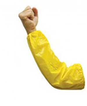 [Shoparound168] Yellow Vinyl PVC Replacement Waterproof Sleeves w/Elastic Ends 8 mil 18'' Long (12 Pairs)
