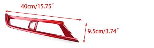 CITALL 5Pcs Rot ABS Zentralsteuerung Auslass L/üftungsschlitzabdeckung Trim